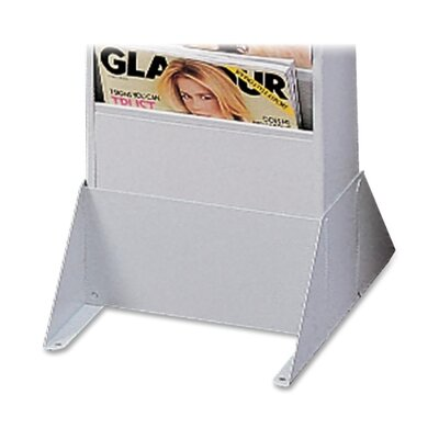 "Buddy Products Steel Wall / Floor Literature Rack, 10""x12-1/8""x4-7/8"", Platinum"