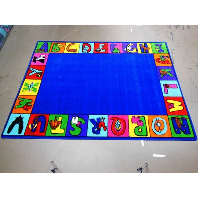 Kids World Rugs My ABC Squares Kids Rug