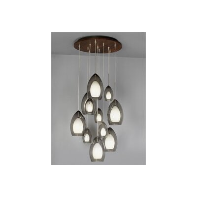 Tech Lighting 11 Port Round Wooden Canopy