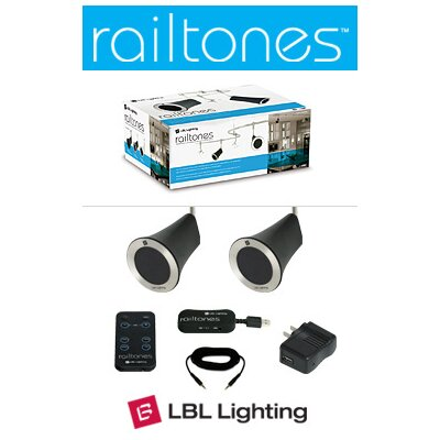 Tech Lighting Railtoness Two Speaker Kit with Monorail Mount