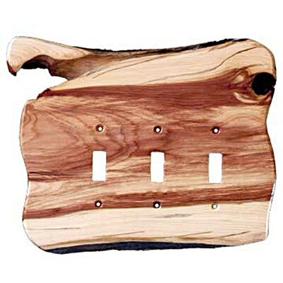 Rustic 3 Toggle Switch Plate