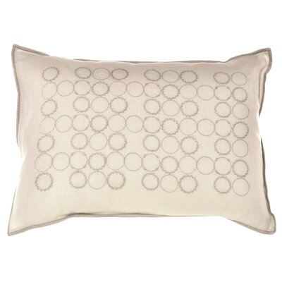 "Vera Wang Bamboo Leaves 12"" x 16"" Circle Embroidery Decorative Down Pillow"