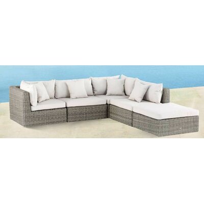 Delmar Modular Deep Seating Sectional with Cushions