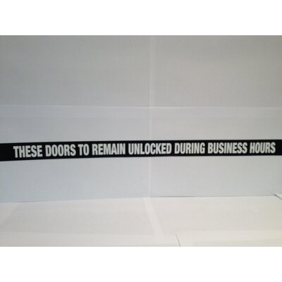 DON-JO MFG INC. Door Decal