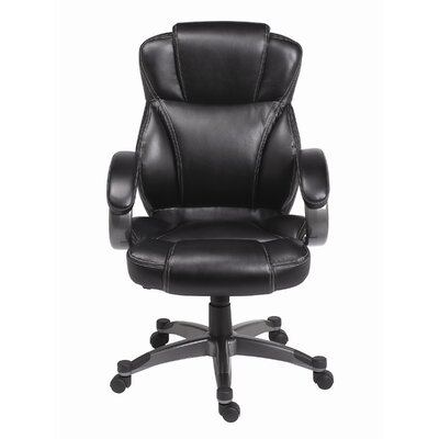Genuine Waxed Mid-Back Leather Executive Chair