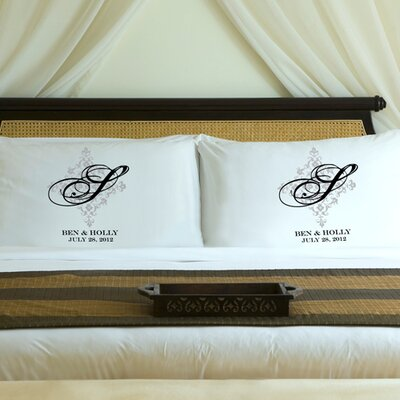 "JDS Personalized Gifts Personalized Gift Couples ""Perfect Panache"" Pillowcase"