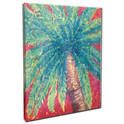 Palm Tree Mounted by Giclee Gerri Hyman Painting Print n Canvas