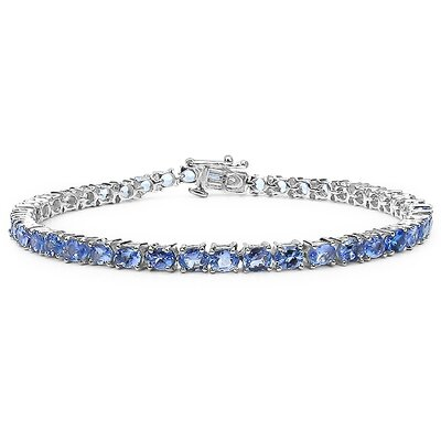 Oval Cut Tanzanite Link Bracelet