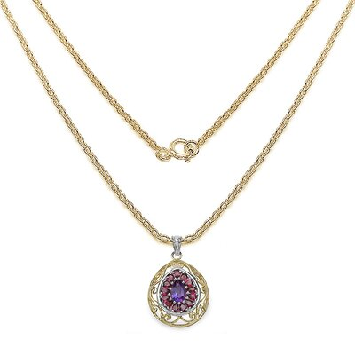 JewelzDirect 925 Sterling Silver Gemstone Pendant