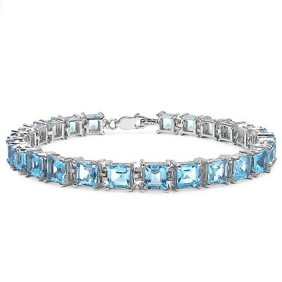 Cushion Cut Gemstone Link Bracelet