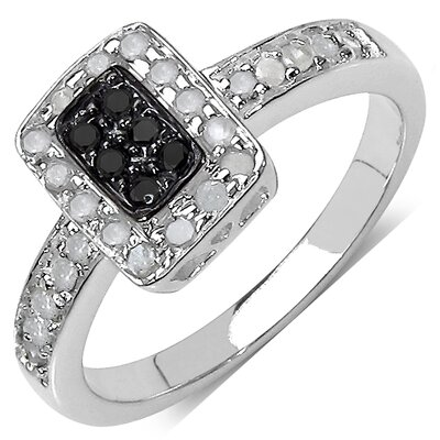 925 Sterling Silver Round Cut Diamond Ring