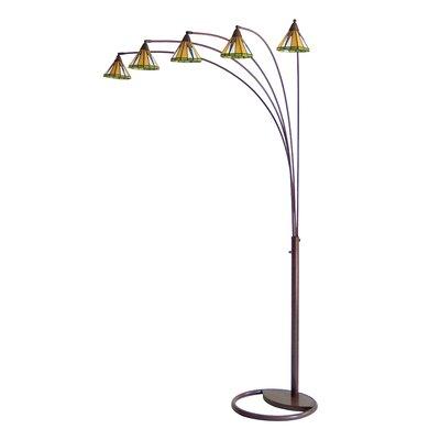 nova mission 5 light arc floor lamp. Black Bedroom Furniture Sets. Home Design Ideas