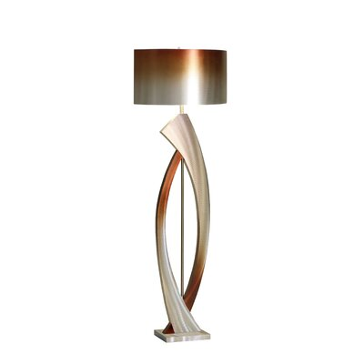 Nova Swerve Floor Lamp in Brushed Aluminum