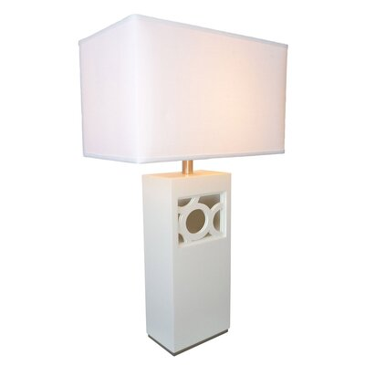 "Nova Nemo 28"" H Table Lamp with Rectangle Shade"