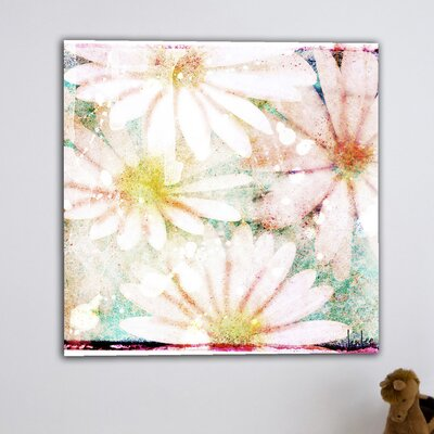 Jen Lee Art Daisies Graphic Art on Canvas