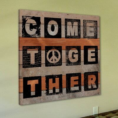 Jen Lee Art Come Together Textual Art Plaque