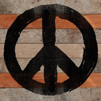 Jen Lee Art All Peace Reclaimed Wood - Douglas Fir Art