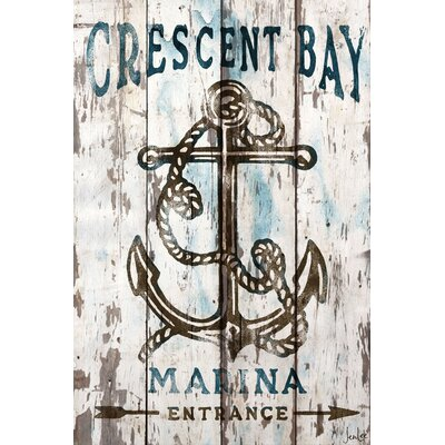 Jen Lee Art Crescent Bay Reclaimed Wood - White Barn Siding Art