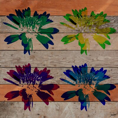 Jen Lee Art Floral Burst Reclaimed Wood - Douglas Fir Art