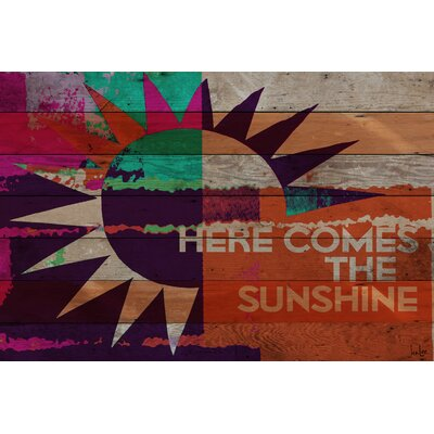 Here Comes the Sunshine Graphic Art Plaque
