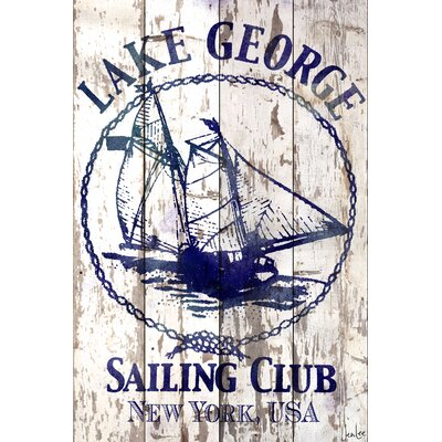 Lake George Sailing Club Barn Siding Graphic Art Plaque