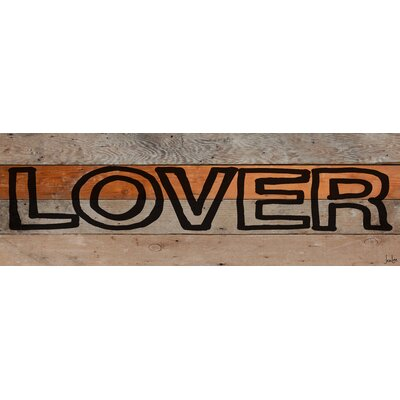 Jen Lee Art Lover Marker Reclaimed Wood - Douglas Fir Art