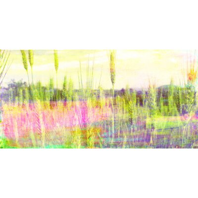 Jen Lee Art Green Grass Graphic Art on Canvas