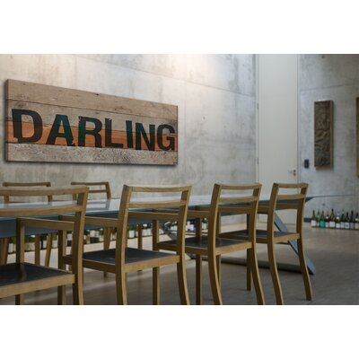 Jen Lee Art Darling Reclaimed Wood - Douglas Fir Art