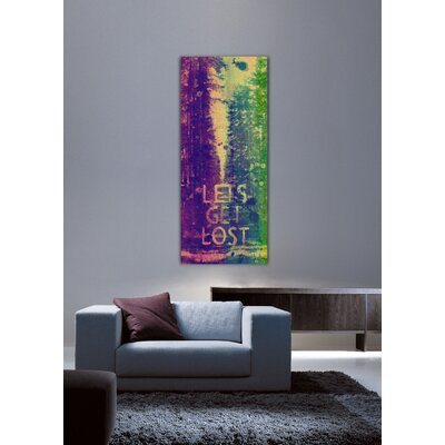 Jen Lee Art Lets Get Lost Canvas Art