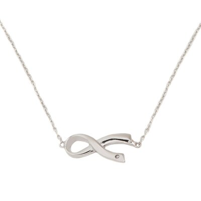 DK Sterling Sterling Silver Sideways Awareness Necklace