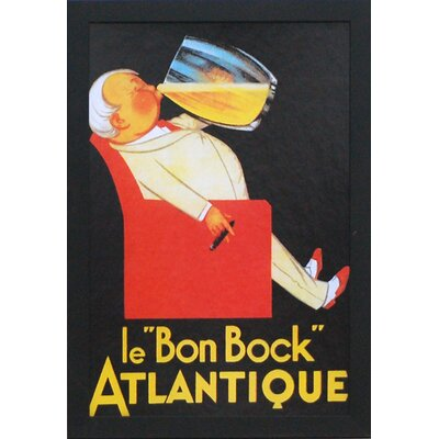 Le 'Bon Bock' by Vintage Apple Framed Vintage Advertisement