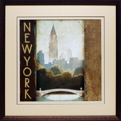City Skyline New York by Marco Fabiano Framed Vintage Advertisement