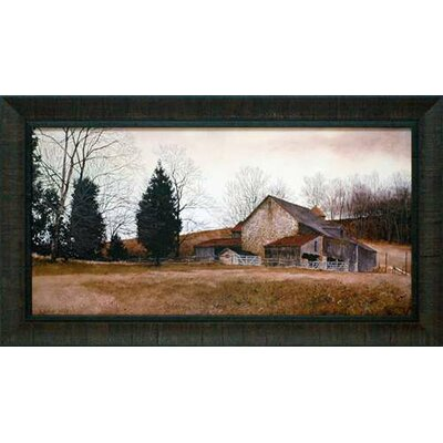 North American Art Farm on the Hill by Ray Hendershot Framed Painting Print