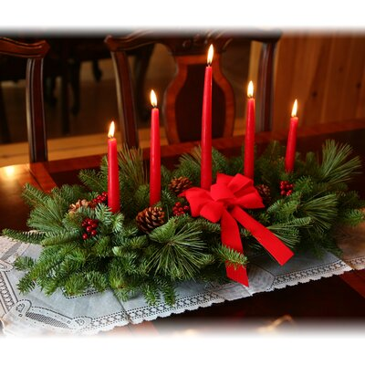 Classic 5 Candle Christmas Centerpiece