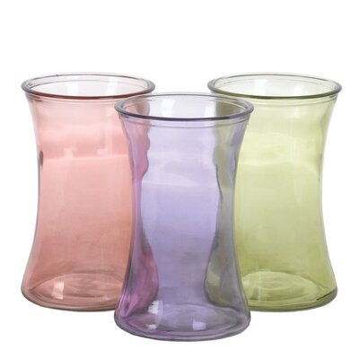 Oddity Inc. 3 Piece Pressed Vase Set