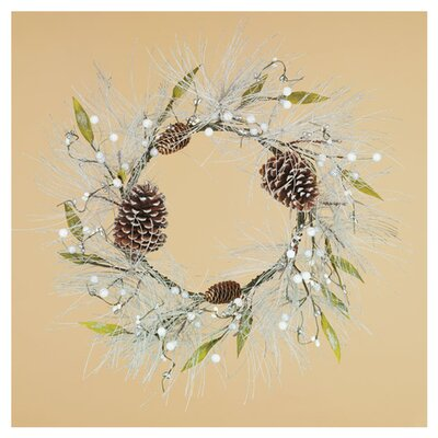 Pine Berry Cone Leaf Wreath