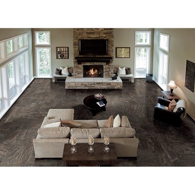 "Samson Anthology 12"" x 24"" Floor Tile in Brown (Box of 7)"