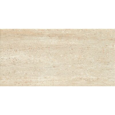 "Samson Tile Travertini 18"" x 36"" Matte Floor and Wall Tile in Beige (Box of 3)"