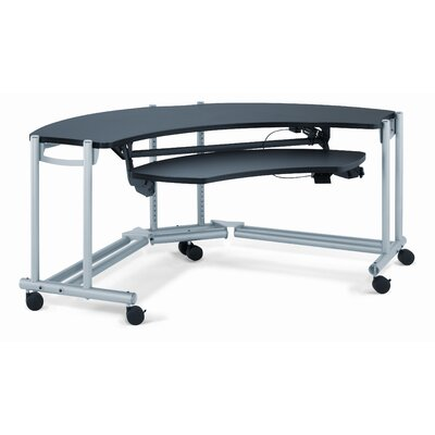"Anthro Anthro Ergonomic Fit Console Wrap Around Studio 76"" W x 45.25"" D Computer Table"