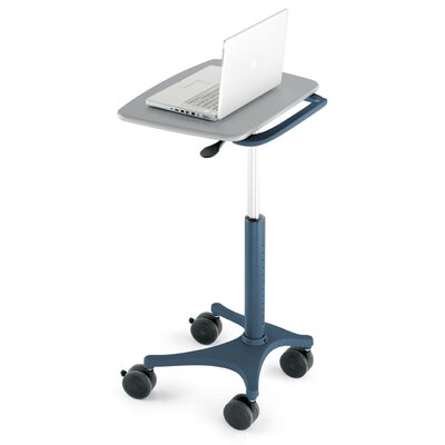 Anthro Zido Mobile Adjustable Height EMR Cart With Handle