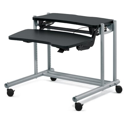 "Anthro 60"" Fit System Adjusta Sit / Stand Ergonomic Computer Workstation"