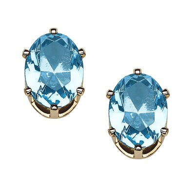 Oval Cut Gemstone Clip-On Stud Earrings