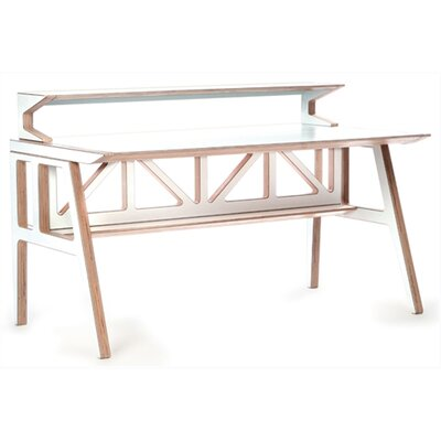 Context Furniture Truss Desk Shelf