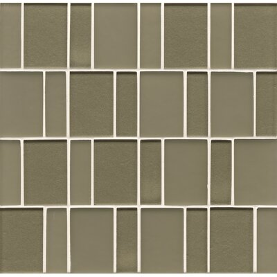 Bedrosians Manhattan Random Sized Mosaic Brick Pattern Tile in Mint