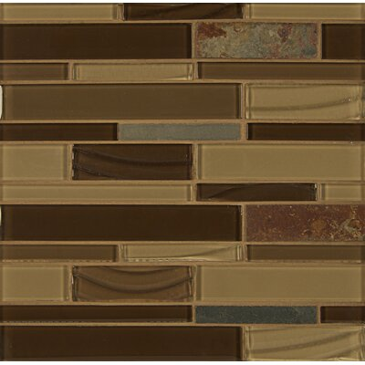 Random Sized Stone Mosaic Linear Tile in Champagne