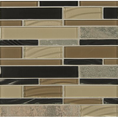 Random Sized Stone Mosaic Tile in Ebony