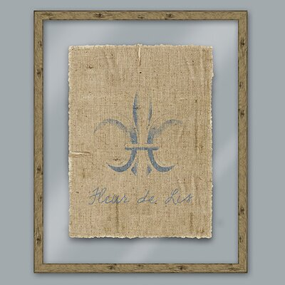 Blue Fleur De Lis Framed Graphic Art