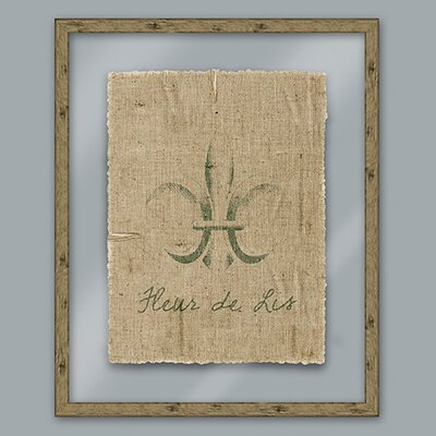 Epic Art Green Fleur De Lis Framed Graphic Art