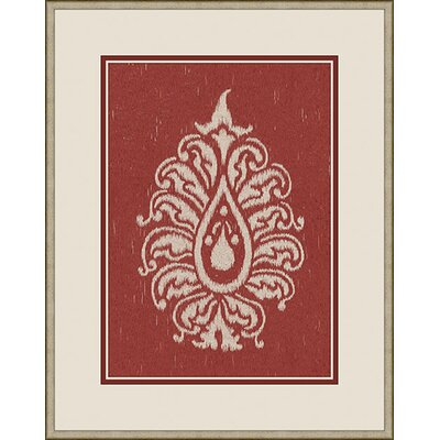 Paisley II Wall Art in Red
