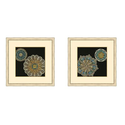 Epic Art Midnight Rosette II Framed Graphic Art